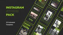 پروژه افترافکت مجموعه استوری اینستاگرام Modern Instagram Stories