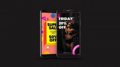 پروژه افترافکت تیزر تبلیغاتی فروشگاه آنلاین Online Shop Product Promo