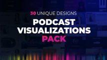 پروژه افترافکت ویژوالیزیشن پودکست Podcast Visualizations Pack