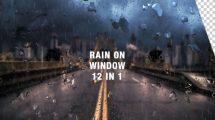 پروژه افترافکت انیمیشن قطرات باران روی پنجره Rain On Window Pack