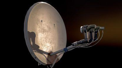 مدل سه بعدی دیش ماهواره Satelite Dish