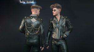 مدل سه بعدی کت با تزیینات Spiky Jacket for Genesis 8 Male