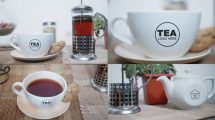 پروژه افترافکت نمایش لوگو با فنجان چای Tea Opener