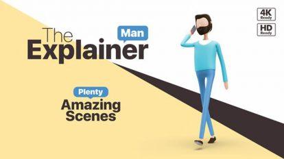 پروژه افترافکت ساخت تیزر تبلیغاتی با کاراکتر مرد کارتونی The Explainer Man