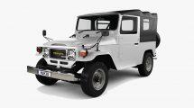 مدل سه بعدی خودرو تویوتا Toyota Land Cruiser J40