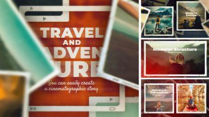 پروژه افترافکت اسلایدشو خاطرات سفر Travel and Adventure Slideshow