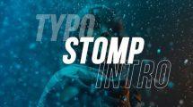 پروژه افترافکت اینترو سریع Typo Stomp Intro