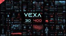 پروژه افترافکت مجموعه اینفوگرافیک Vexa HUD Infographics