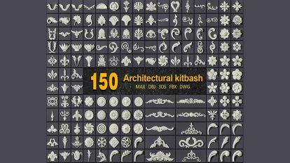 مجموعه مدل سه بعدی اجزای تزیینی معماری Architectural Kitbash Vol.1