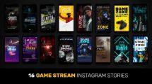 پروژه افترافکت استوری اینستاگرام پخش جریان بازی Game Stream Instagram Stories