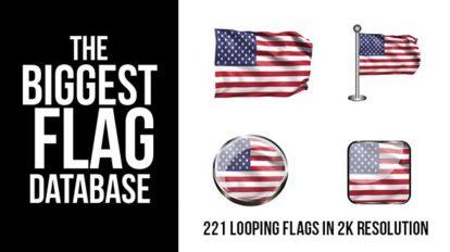 پروژه افترافکت انیمیشن پرچم کشورهای جهان Looping World Flags
