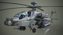 مدل سه بعدی هلیکوپتر AH-64D Apache Longbow