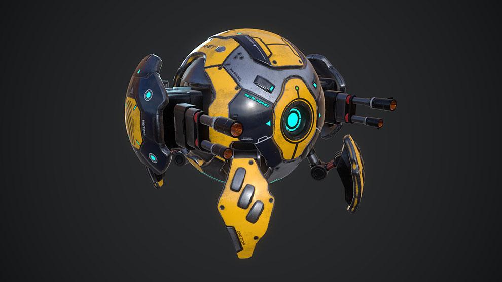 مدل سه بعدی ربات کروی Ball Bot