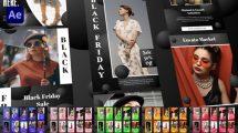 پروژه افترافکت استوری فروش ویژه Black Friday Sale Stories