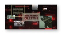 پروژه افترافکت اسلایدشو با افکت گلیچ Breaking Glitch Presentation Slideshow