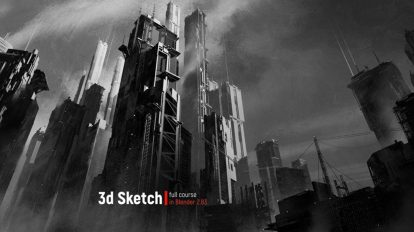 دوره آموزشی طراحی اسکچ سه بعدی سینمایی در بلندر