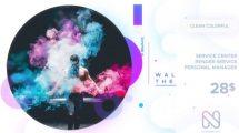 پروژه افترافکت تیزر تبلیغاتی رنگارنگ Clean Colorful Promo