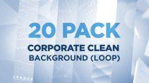 مجموعه فوتیج زمینه متحرک شرکتی Corporate Clean Background Loop