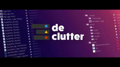 اسکریپت افترافکت Declutter ابزار مرتب کردن فایل های پروژه