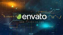 پروژه افترافکت نمایش لوگو با موضوع مالی Digital Finance Intro
