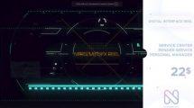 پروژه افترافکت اسلایدشو سینمایی Digital Interface Reel