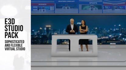 پروژه افترافکت استودیو برودکست Element 3D Broadcast Studio Pack