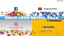 پروژه افترافکت نمایش لوگو با اموجی Emoji Logo Reveal Pack