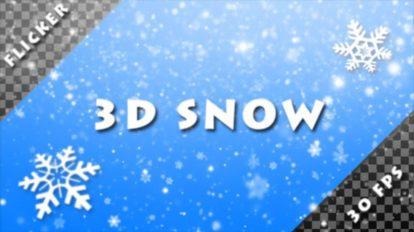 مجموعه فوتیج ریزش برف 3D Snow Alpha Pack