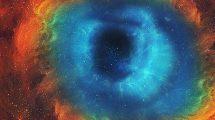 فوتیج حرکت در تونل فضایی Flight Through A Blue Space Tunnel