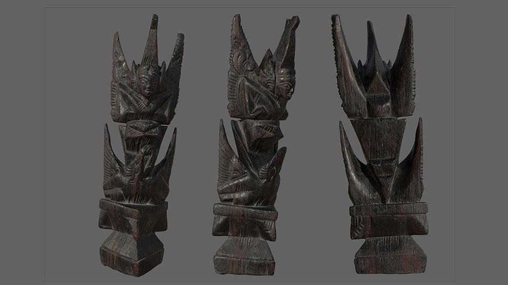 مدل سه بعدی مجسمه چوبی گارودا Garuda Wooden Sculpture