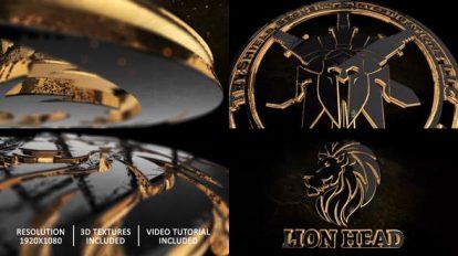 پروژه افترافکت نمایش لوگو طلایی Gold Black and Shine Logo Reveal