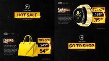 پروژه افترافکت تیزر تبلیغاتی فروش ویژه Hot Sale Black Friday