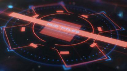 پروژه افترافکت نمایش عناوین سینمایی HUD Cinematic Titles
