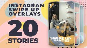 پروژه افترافکت استوری اینستاگرام Instagram Swipe Up Stories