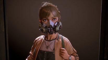 مدل سه بعدی دختر با ماسک پیشرفته Keep Clear Covid