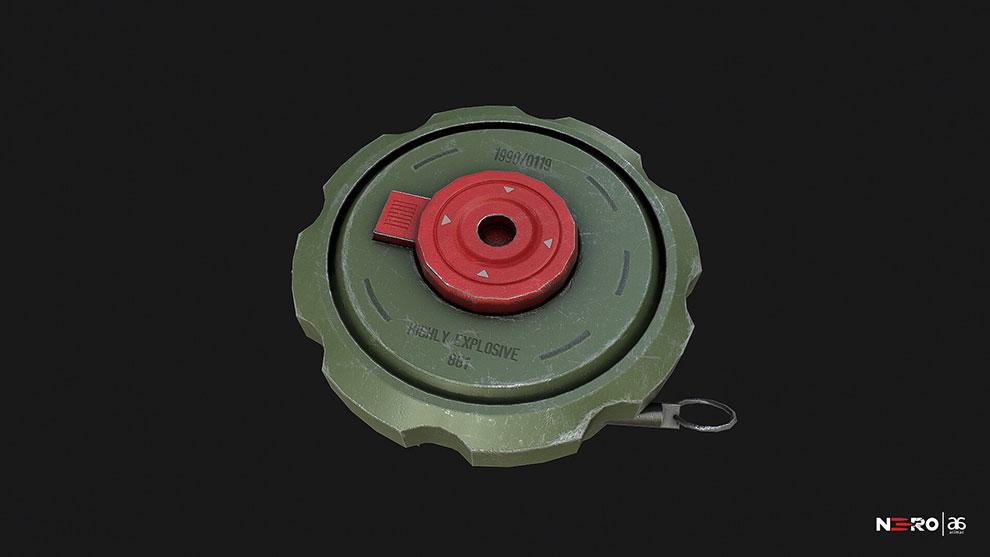 مدل سه بعدی مین جنگی Land Mine