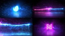 پروژه افترافکت نمایش لوگو با ذرات جادویی Magic Particles Logo