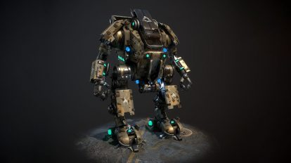 مدل سه بعدی ربات جنگنده Mech Warrior