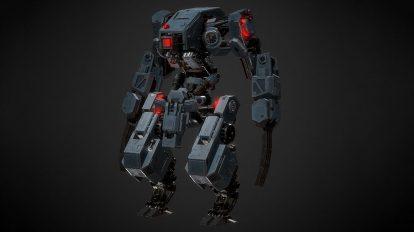 مدل سه بعدی ربات Mecha BL