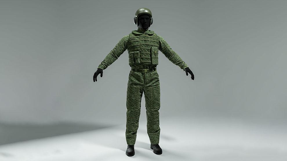 مدل سه بعدی یونیوفورم نظامی Military Uniform