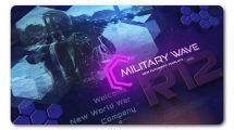 پروژه افترافکت تیزر تبلیغاتی با موضوع نظامی Military Wave Techno Promo