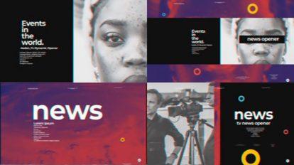 پروژه افترافکت افتتاحیه تلویزیونی خبری Minimal TV News Opener