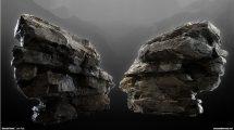 مجموعه مدل سه بعدی سنگ Modular Rock