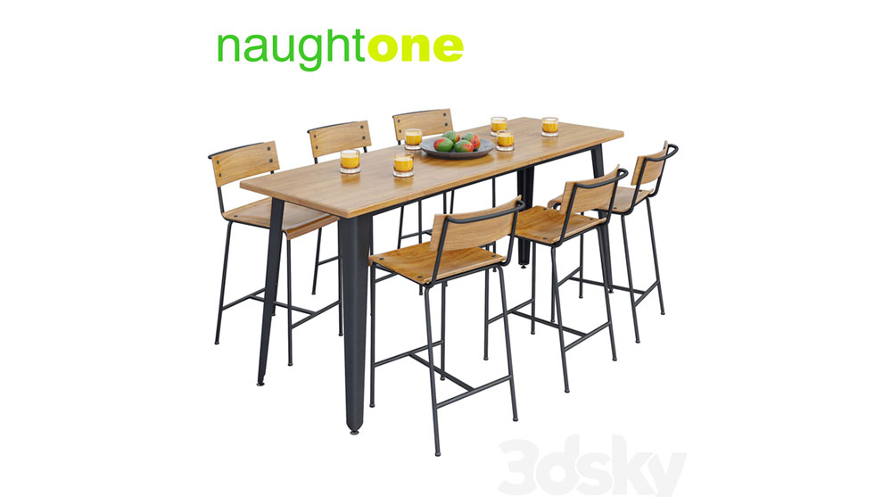 مدل سه بعدی ست میز Naughtone Construct Table Set