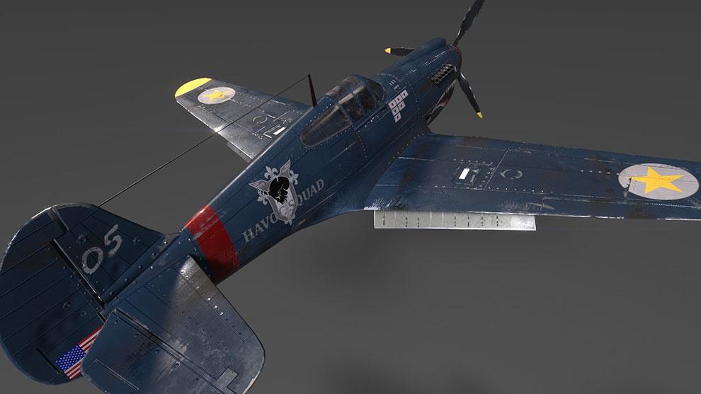 مدل سه بعدی جت جنگی P40 War Hawk