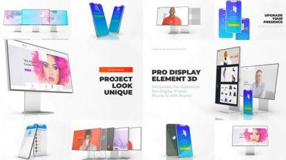 پروژه افترافکت موکاپ اپلیکیشن و وبسایت Display Mockup Web App Promo
