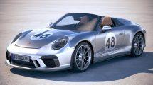 مدل سه بعدی خودرو پورشه Porsche 911 Speedster 2019