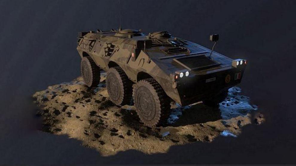 مدل سه بعدی تانک جنگی PUMA AFV