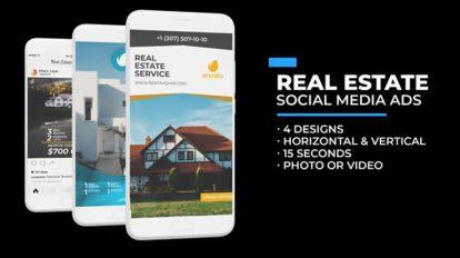 پروژه افترافکت تیزر تبلیغاتی مشاور املاک در شبکه اجتماعی Real Estate Social Media Ads