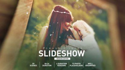 پروژه افترافکت اسلایدشو عروسی Romantic Wedding Intro Slideshow